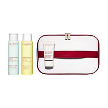 Buy Clarins Cleanser Toner and Refiner Skincare Set Online at johnlewis.com
