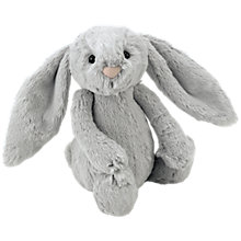 Buy Jellycat Bashful Bunny, Small, Silver Online at johnlewis.com