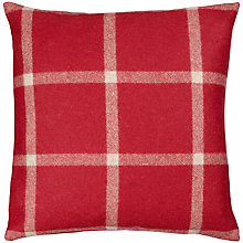 Buy Moon Massif Check Cushion, Red Online at johnlewis.com