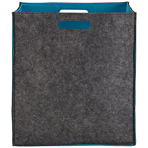Buy John Lewis Felt Storage Bag, Large, Teal Online at johnlewis.com