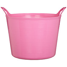 Buy little home at John Lewis Large Flexi Storage Tub, 43L, Pink Online at johnlewis.com