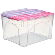 Buy little home at John Lewis Flip Top Box, 33L Online at johnlewis.com
