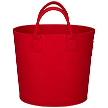 Buy House by John Lewis Felt Storage Bucket, Red Online at johnlewis.com