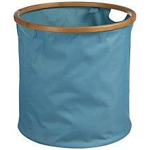 Buy House by John Lewis Collapsible Round Storage Basket, Teal Online at johnlewis.com
