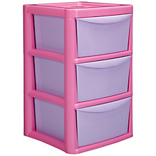 Buy little home at John Lewis Tower Storage, 3 Drawers Online at johnlewis.com