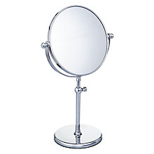 Buy John Lewis Adjustable Bathroom Pedestal Mirror, Silver Online at johnlewis.com