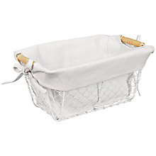 Buy John Lewis Botanist Wire Bathroom Storage Basket, White Online at johnlewis.com
