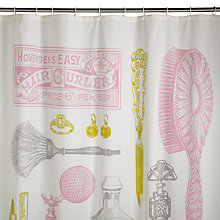 Buy Izola Canvas Powder Room Shower Curtain, Multi Online at johnlewis.com