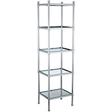 Buy John Lewis Bathroom Restoration 5 Tier Freestanding Shelf Unit, Silver Online at johnlewis.com