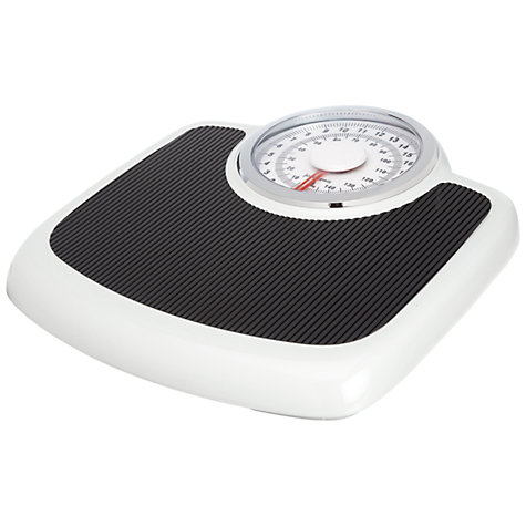 Buy John Lewis Traditional Mechanical Bathroom Scale, Black / White Online at johnlewis.com