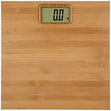 Buy John Lewis Rubberised Bamboo Digital Bathroom Scale, Natural Online at johnlewis.com