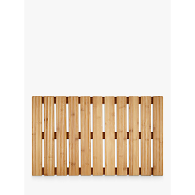 John Lewis Rubberised Bamboo Bathroom Duckboard, Natural