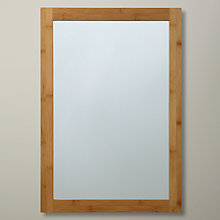 Buy John Lewis Rubberised Bamboo Wall Mirror, Brown Online at johnlewis.com