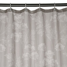Buy John Lewis Cow Parsley Shower Curtain, Soft Grey Online at johnlewis.com