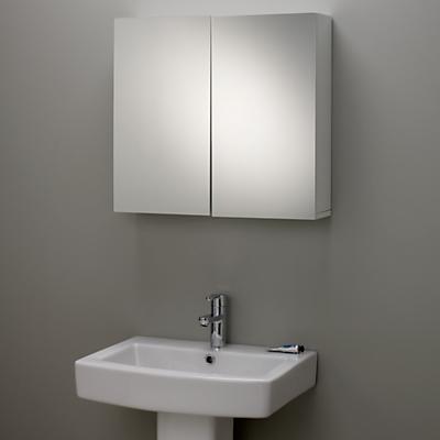 John Lewis Gloss Double Mirrored Bathroom Cabinet