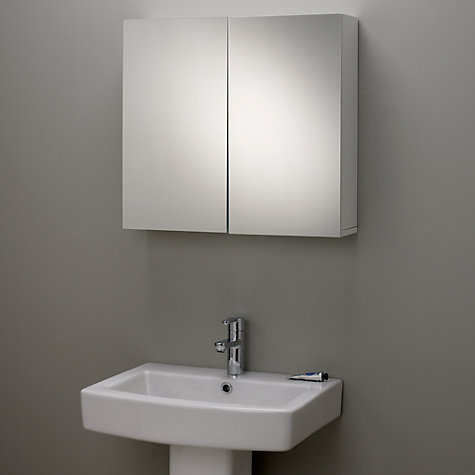 buy john lewis gloss double mirrored bathroom cabinet online at johnlewiscom - Bathroom Cabinets John Lewis