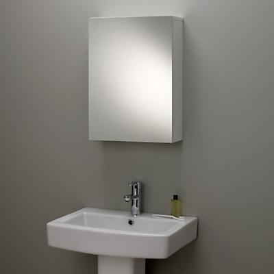 John Lewis Gloss Single Mirrored Bathroom Cabinet