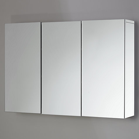 buy john lewis gloss triple mirrored cabinet white john