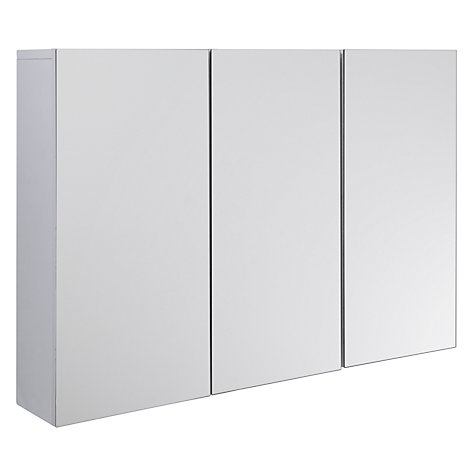 buy john lewis gloss triple mirrored cabinet white online at