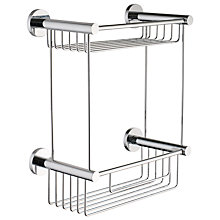 Buy John Lewis Multi-Way Bathroom 2 Tier Shower Basket, Chrome Online at johnlewis.com