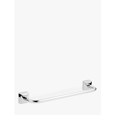 John Lewis Pure Bathroom Short Towel Bar, Chrome