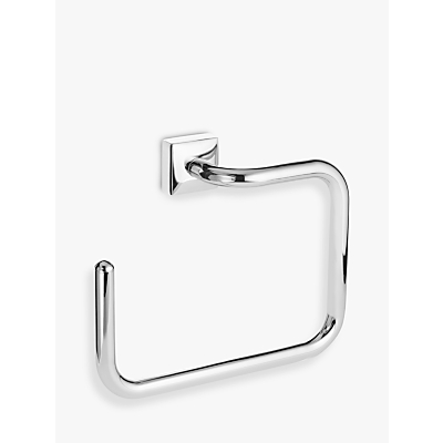 John Lewis Pure Bathroom Towel Ring, Silver