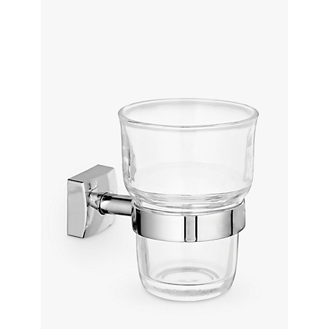 Buy John Lewis Pure Bathroom Tumbler and Holder, Silver Online at johnlewis.com