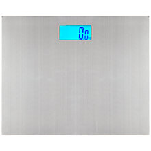 Buy John Lewis Digital Bathroom Scale, Stainless Steel Online at johnlewis.com