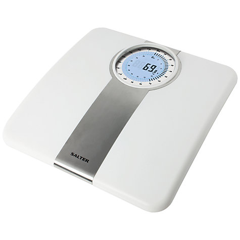 Buy Salter Dual Display Digital Bathroom Scale, White Online at johnlewis.com