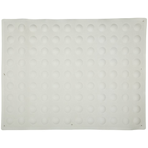 Buy John Lewis Dome Sucker Rubber Non-Slip In-Bath Mat, White Online at johnlewis.com