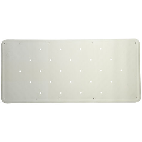 Buy John Lewis Rubagrip Non-Slip Inner Bath Mat, White Online at johnlewis.com