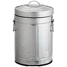 Buy John Lewis Stainless Steel Retro Bathroom Bin, Silver Online at johnlewis.com