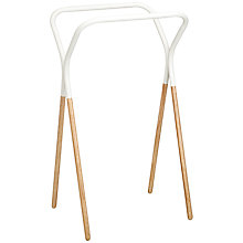 Buy House by John Lewis Jasper Towel Rack, White Online at johnlewis.com