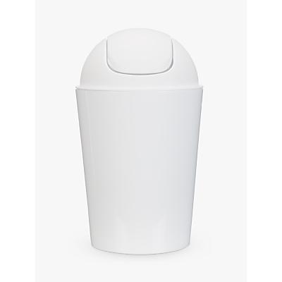 House by John Lewis Bathroom Flip Top Bin, White
