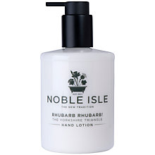 Buy Noble Isle Rhubarb Rhubarb! Hand Lotion, 250ml Online at johnlewis.com