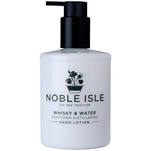 Buy Noble Isle Whisky & Water Hand Lotion, 250ml Online at johnlewis.com