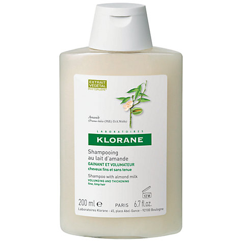 Buy Klorane Almond Milk Shampoo for Fine Hair, 200ml Online at johnlewis.com
