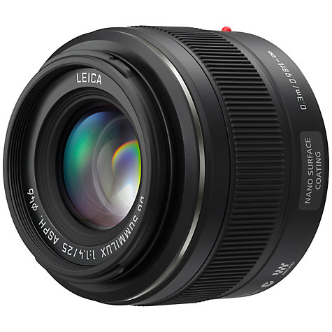 Buy Panasonic LEICA DG SUMMILUX 25mm f/1.4 ASPH Standard Lens Online at johnlewis.com