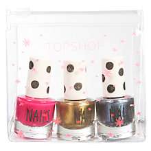 Buy TOPSHOP Nail Polish Gift, Set of 3, Pink/Gold/Blue Online at johnlewis.com