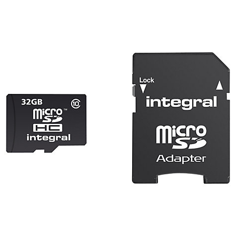 Buy Integral 32GB, Class 10 microSDHC Memory Card Online at johnlewis.com
