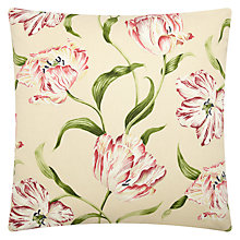 Buy Sanderson Home Dancing Tulips Cushion, Red / Cream Online at johnlewis.com