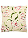 Sanderson Home Dancing Tulips Cushion, Red / Cream