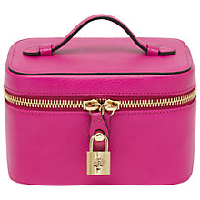 Buy Mulberry Glossy Goat Leather Jewellery Case, Pink Online at johnlewis.com