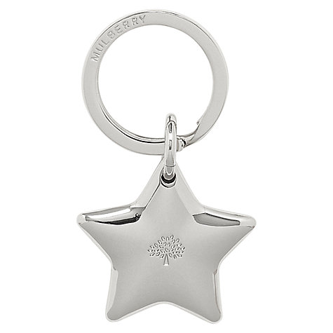 Buy Mulberry Star Metal Keyring, Silver Online at johnlewis.com