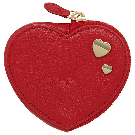 Buy Mulberry Leather Heart Zip Purse Online at johnlewis.com