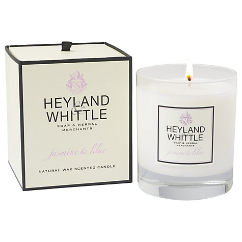 Buy Heyland & Whittle Jasmine and Lilac Scented Candle Online at johnlewis.com