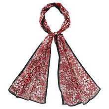 Buy Viyella Flower Print Silk Scarf, Red Online at johnlewis.com