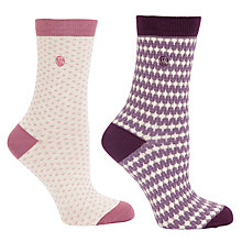 Buy Fat Face Stripe and Spot Patterned Socks, Pack of 2 Online at johnlewis.com