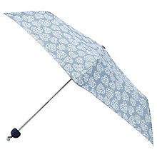 Buy Lola Rose Heart Print Umbrella, Blue Online at johnlewis.com