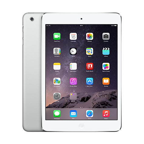 Buy Apple iPad mini, Apple A5, iOS 6, 7.9, Wi-Fi, 16GB, White Online at johnlewis.com